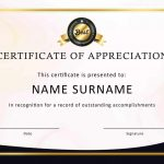 30 Free Certificate Of Appreciation Templates And Letters – Free Printable Volunteer Certificates Of Appreciation