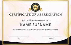 Free Printable Volunteer Certificates Of Appreciation