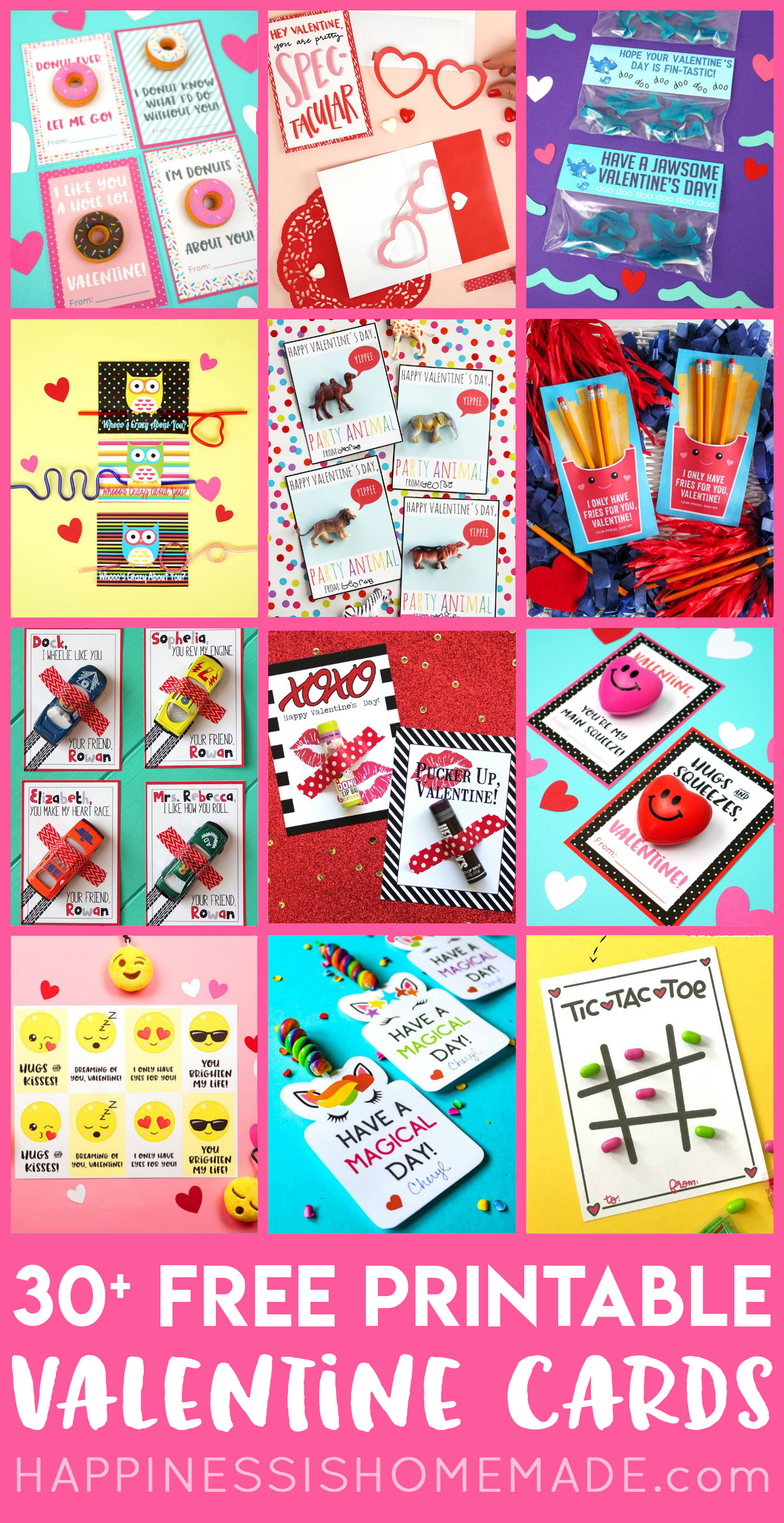 30+ Free Printable Valentine Cards - Happiness Is Homemade - Free Printable Images