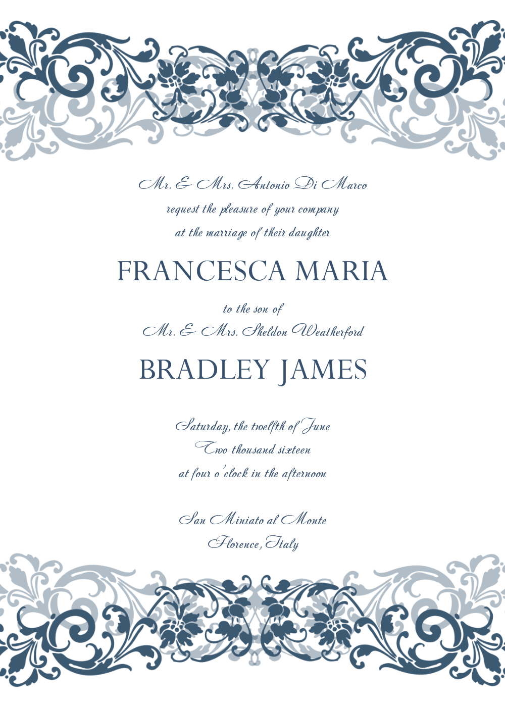 30+ Free Wedding Invitations Templates | 21St - Bridal World - Free Printable Wedding Scrolls