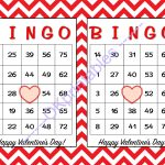 30 Happy Valentines Day Bingo Cards  Okprintables On Zibbet   Free Printable Bingo Cards Random Numbers