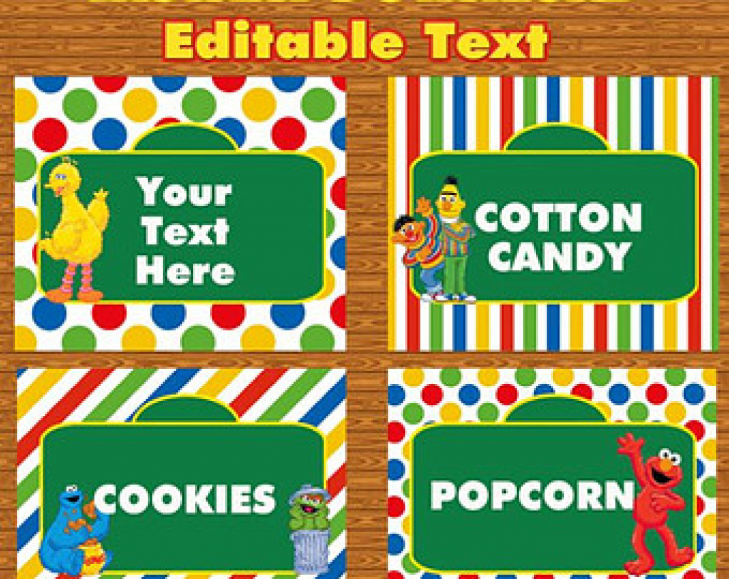 30 Images Of Sesame Street Labels Template   Tonibest For Free - Free Printable Sesame Street Food Labels