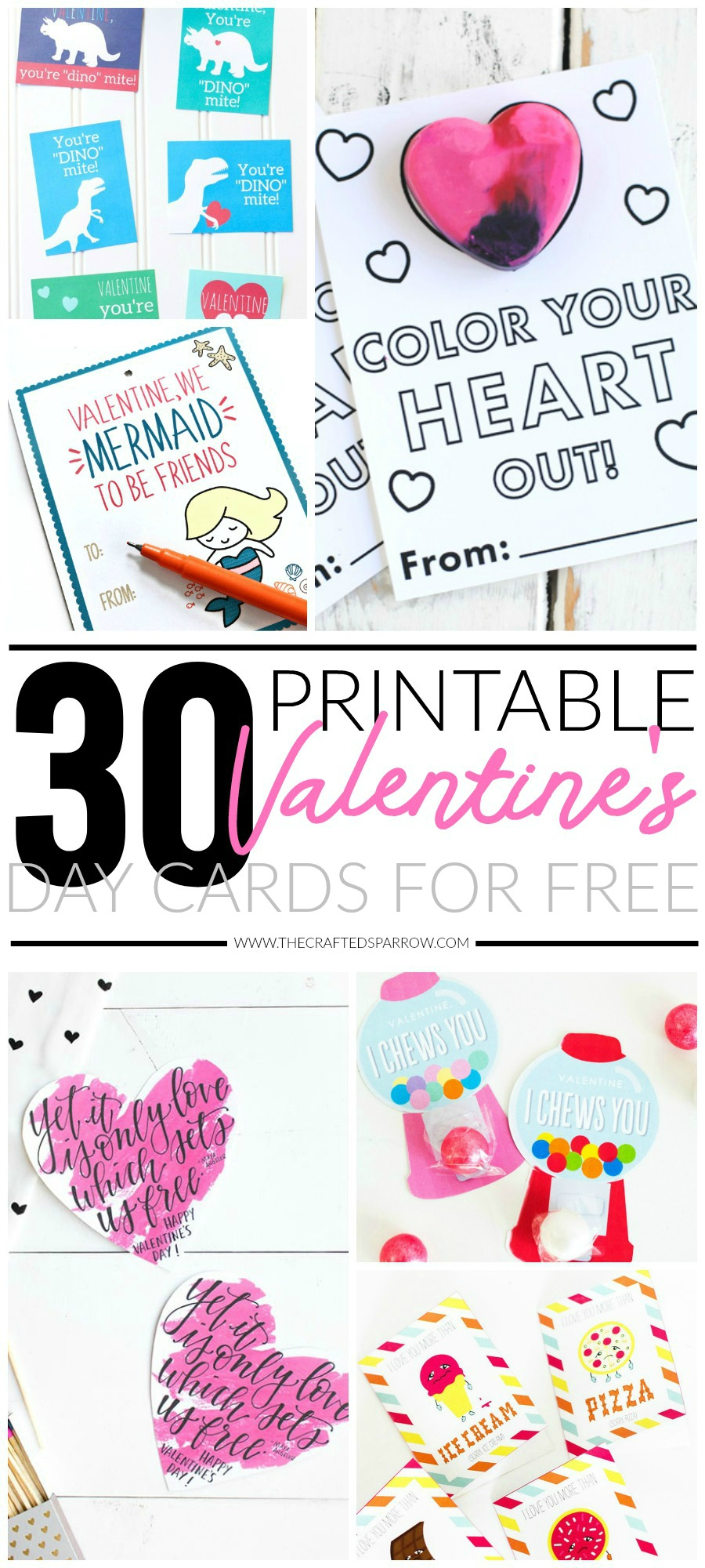 30 Valentines Day Printable Cards - Free Printable Cards