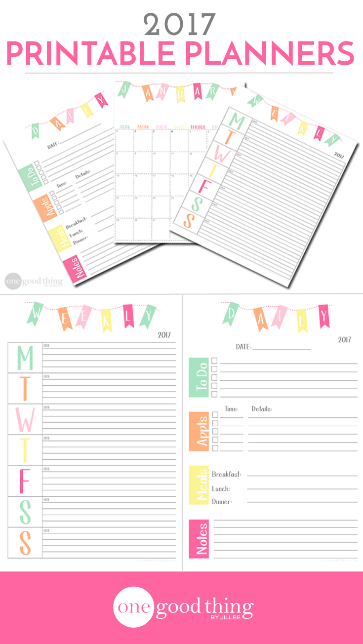 33 Of Our Best Organizing Tips And Free Printable Planners! · Jillee - Free Printable Daily Planner 2017
