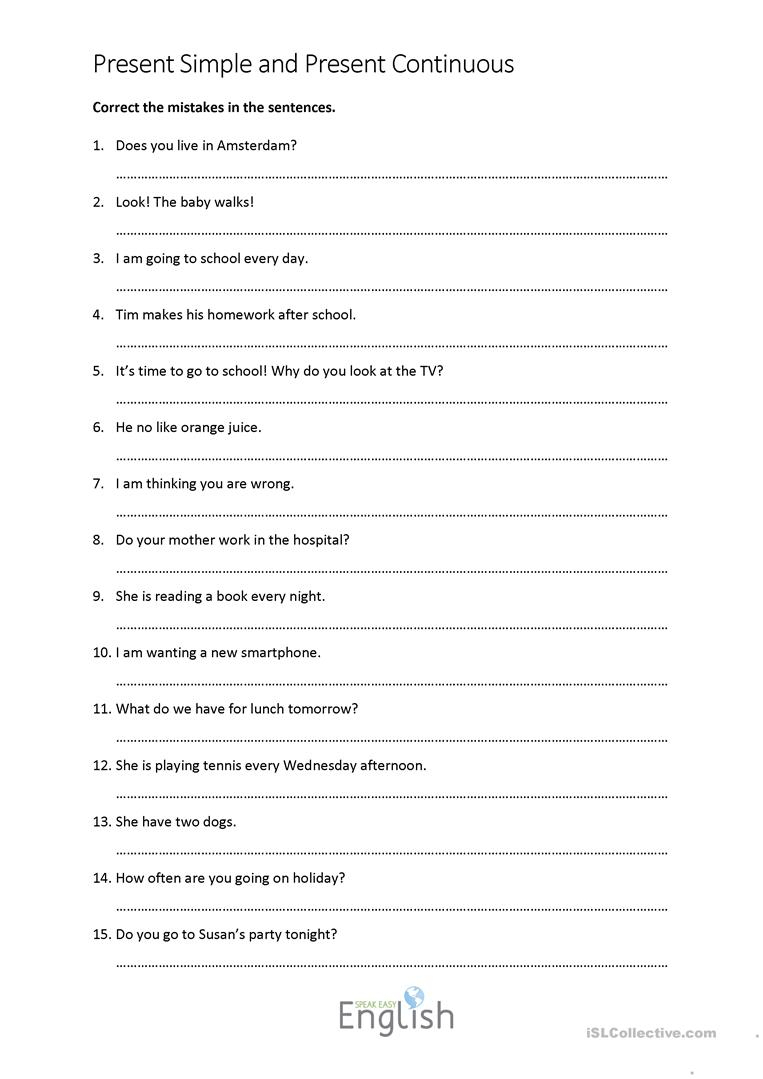 34 Free Esl Error Correction Worksheets - Free Printable Sentence Correction Worksheets
