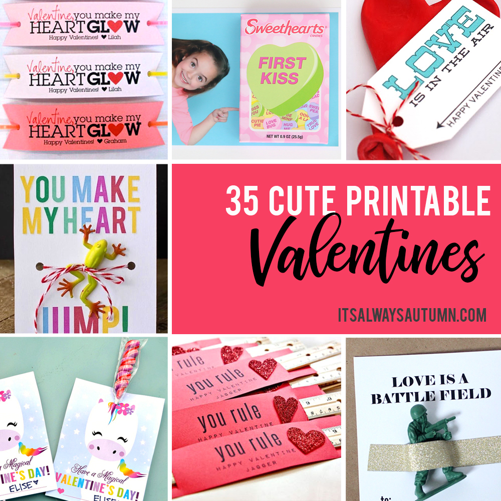 35 Adorable Diy Valentine's Cards To Print At Home For Your Kids - Free Printable Valentines Day Cards For Her