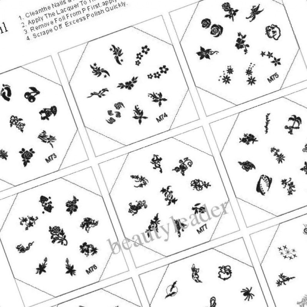 37+ Printable Nail Design Stencils - Stylepics Inside Free Printable - Free Printable Nail Art Designs