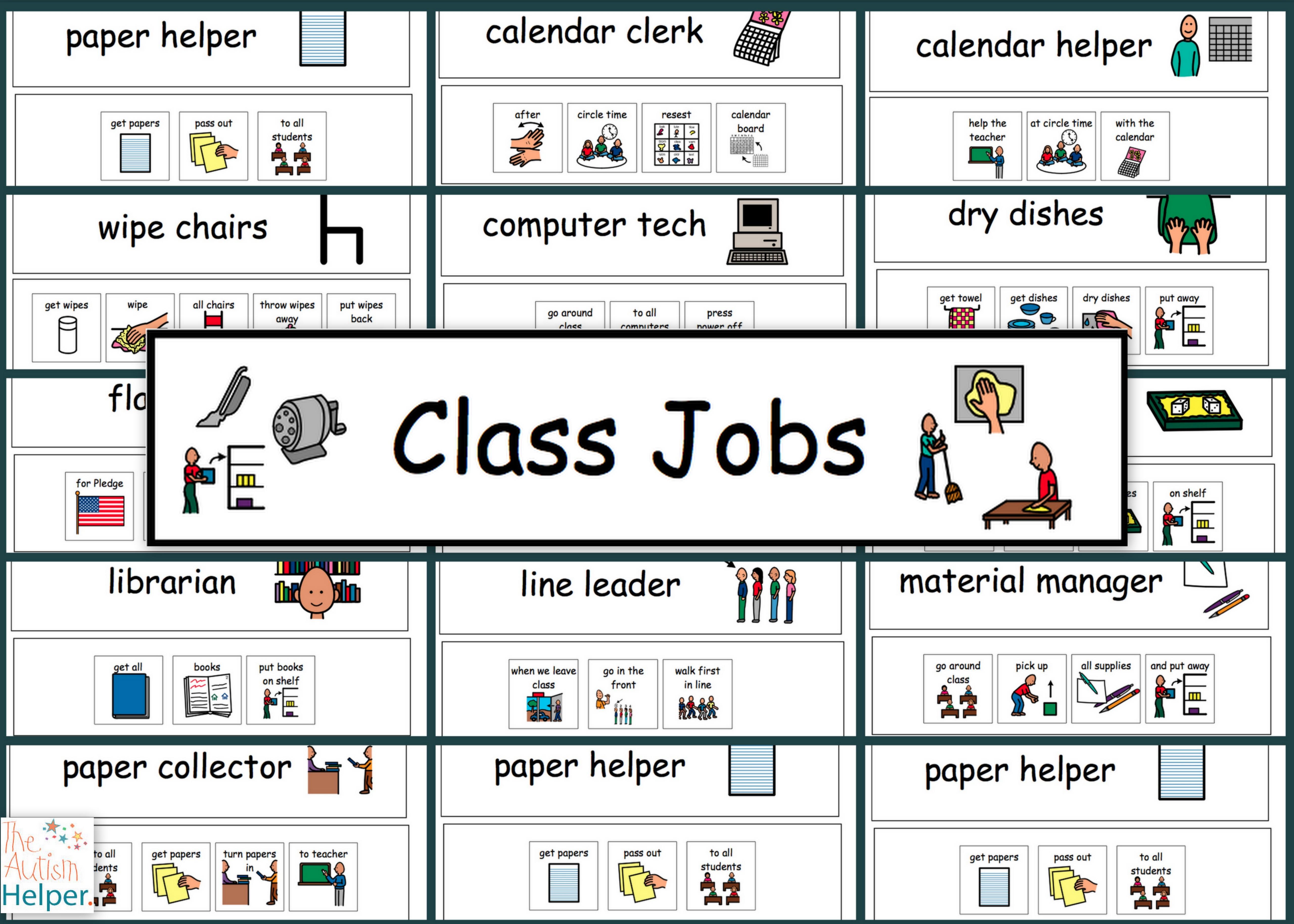 4. Classroom Jobs Set 2 The Autism Helper, Free Classroom Helpers - Preschool Classroom Helper Labels Free Printable