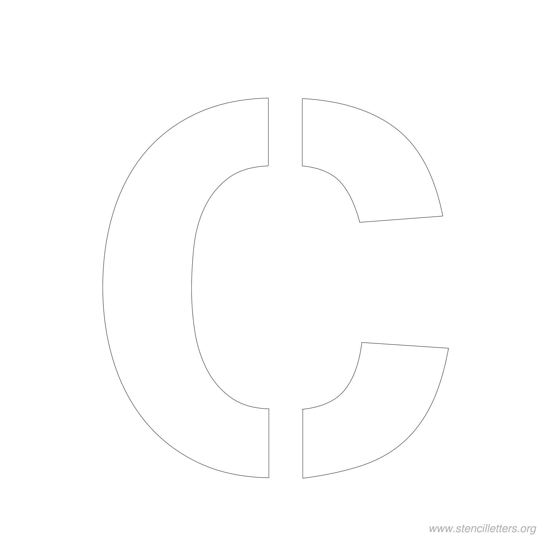 4 Inch Stencil Letters   Stencil Letters Org - Free Printable 4 Inch Block Letters