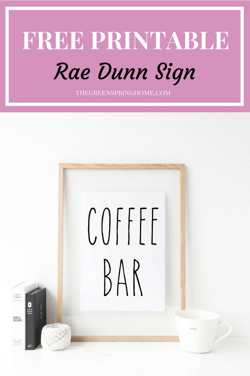 4 Reasons To Love Rae Dunn Mugs | Printables Love | Coffee Bar Signs - Free Printable Coffee Bar Signs