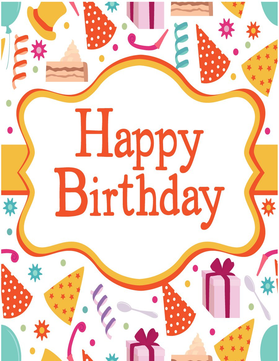 40+ Free Birthday Card Templates - Template Lab - Free Printable Birthday Cards