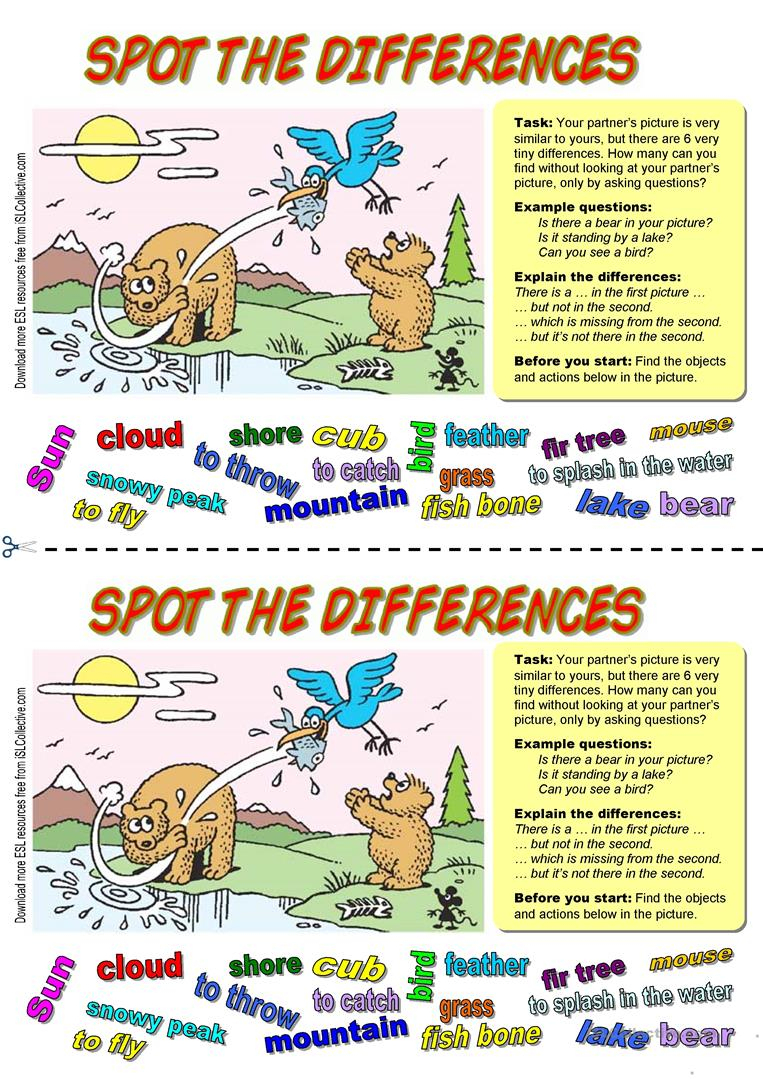 40 Free Esl Spot The Difference Worksheets - Free Printable Spot The Difference Worksheets