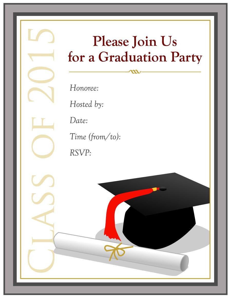 40+ Free Graduation Invitation Templates - Template Lab - Free Printable Graduation Cards