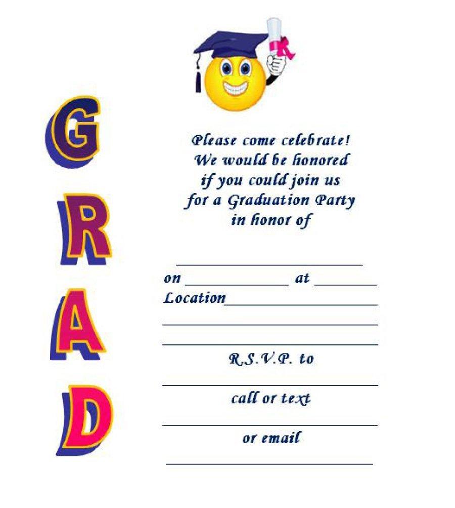 40+ Free Graduation Invitation Templates - Template Lab - Free Printable Graduation Dinner Invitations