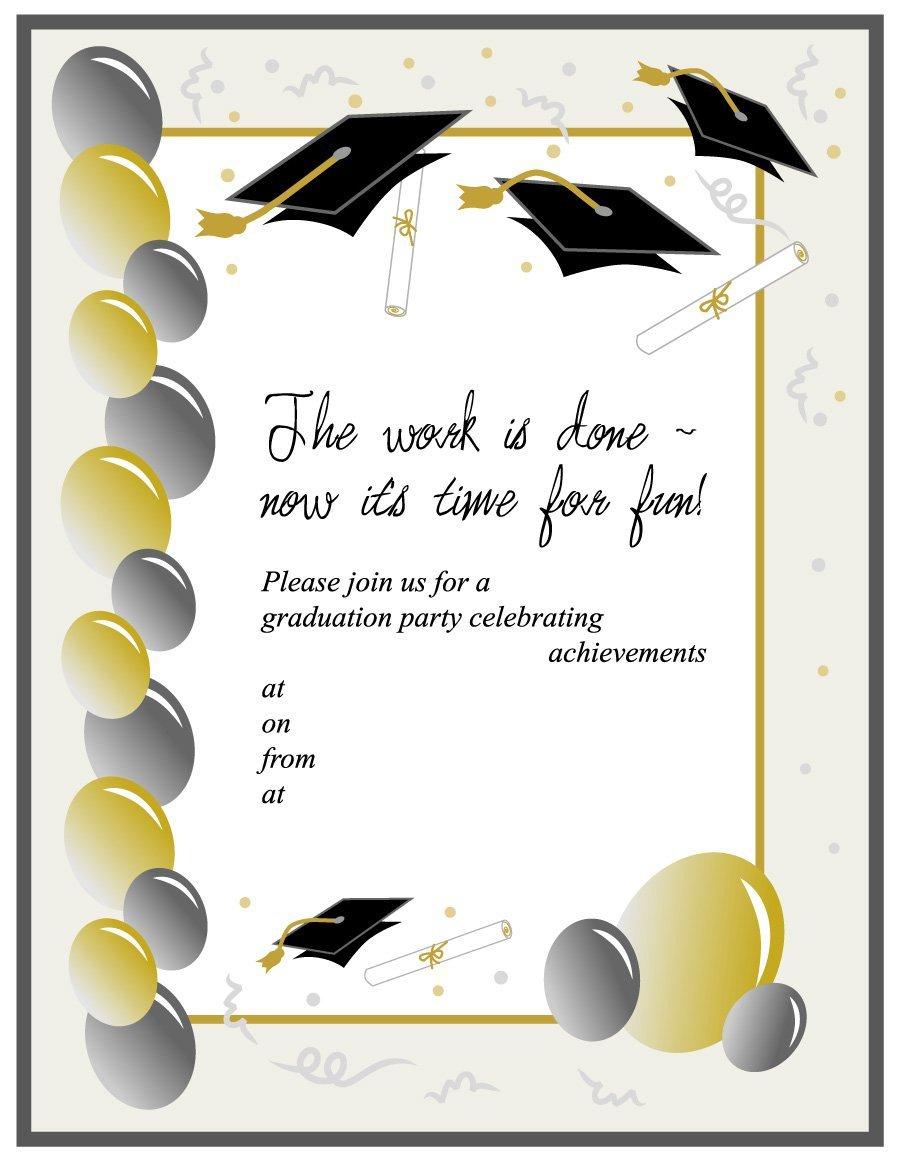 40+ Free Graduation Invitation Templates - Template Lab - Free Printable Graduation Invitation Templates
