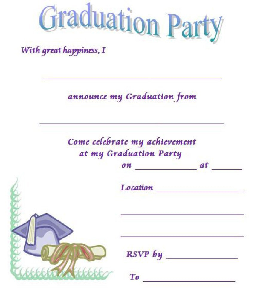 40+ Free Graduation Invitation Templates - Template Lab - Free Printable Graduation Party Games