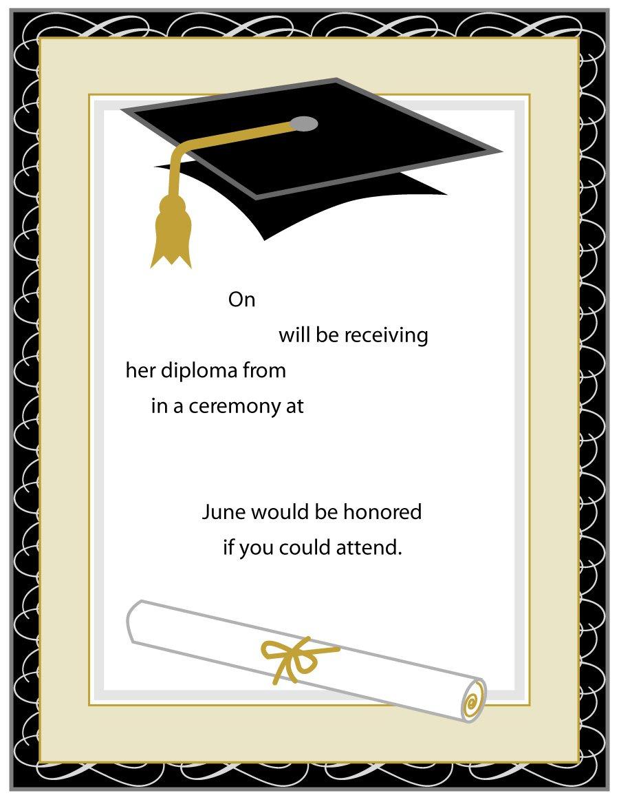 40+ Free Graduation Invitation Templates - Template Lab - Free Printable Graduation Party Invitations