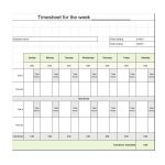40 Free Timesheet / Time Card Templates   Template Lab   Free Printable Time Sheets