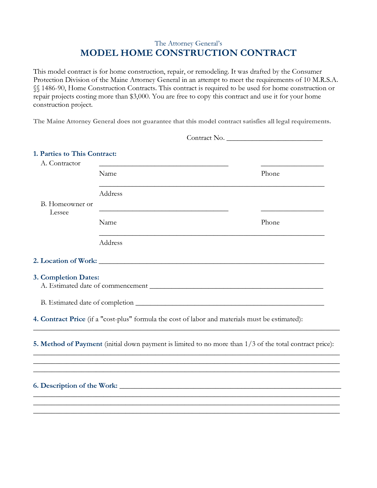 40 Hold Harmless Agreement Templates (Free) Template Lab Free - Free Printable Construction Contracts