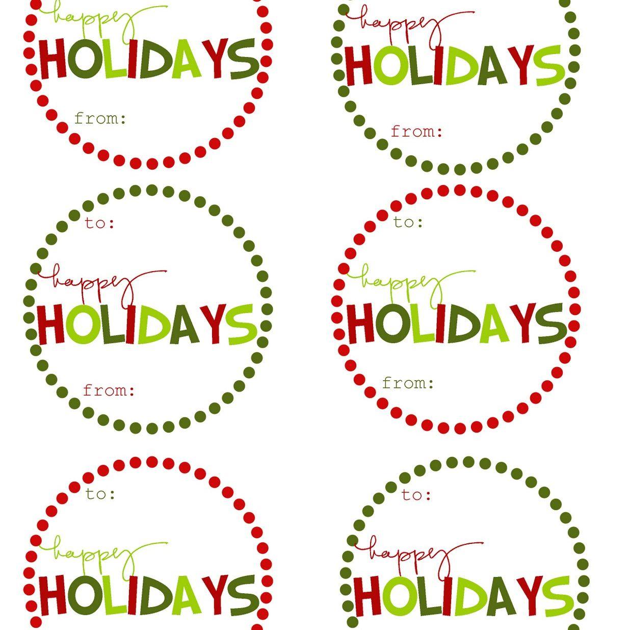 40 Sets Of Free Printable Christmas Gift Tags - Free Printable Christmas Food Labels