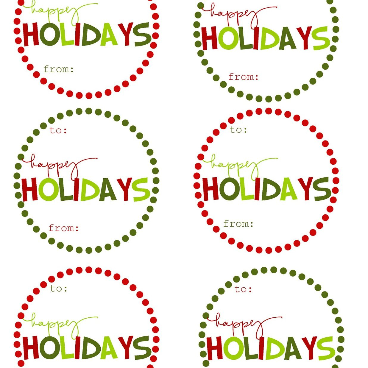 40 Sets Of Free Printable Christmas Gift Tags - Free Printable Holiday Stickers