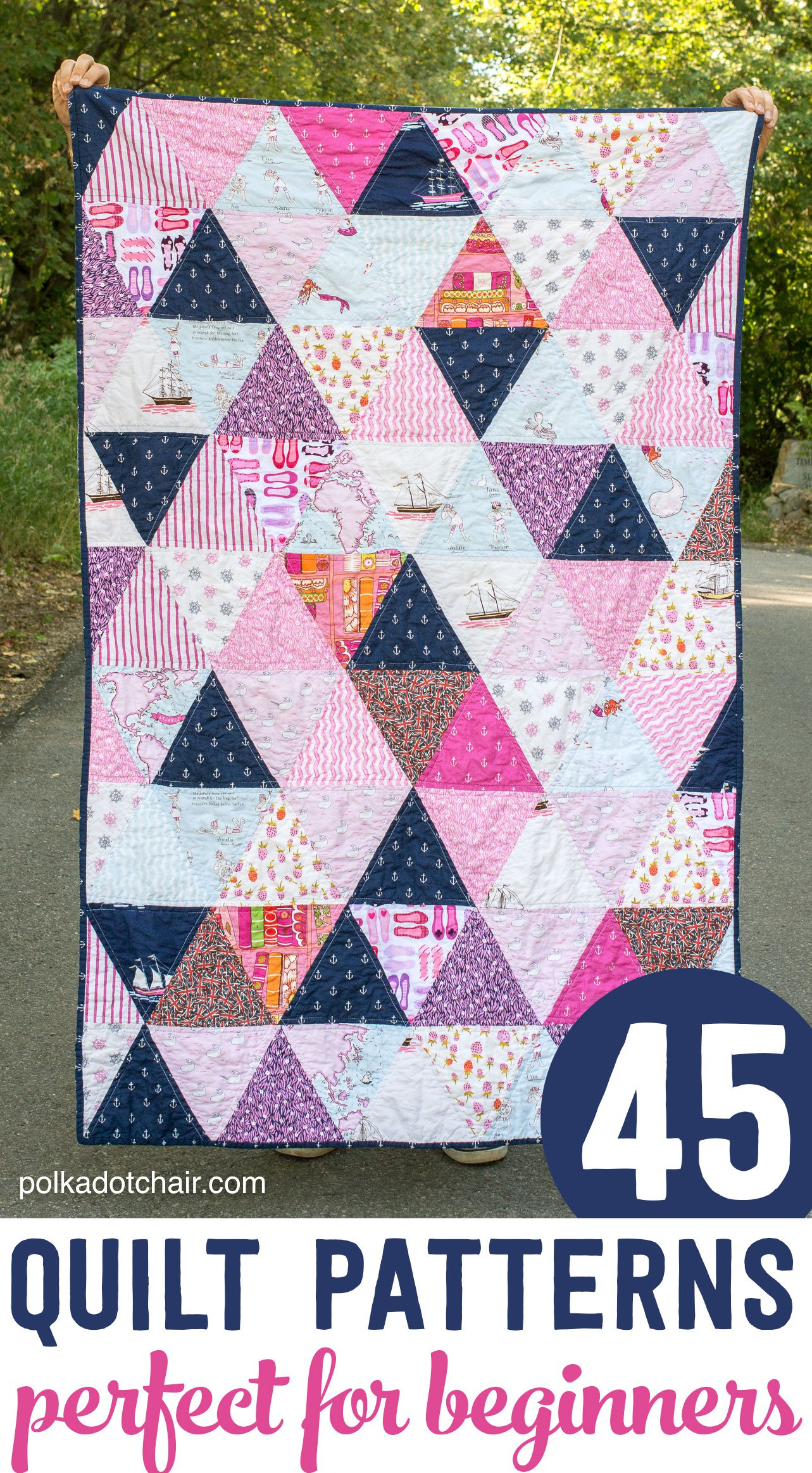 45+ Easy Beginner Quilt Patterns And Free Tutorials | Polka Dot Chair - Quilt Patterns Free Printable