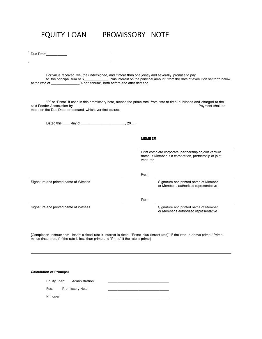 45 Free Promissory Note Templates & Forms [Word & Pdf] ᐅ Template Lab - Free Printable Promissory Note For Personal Loan