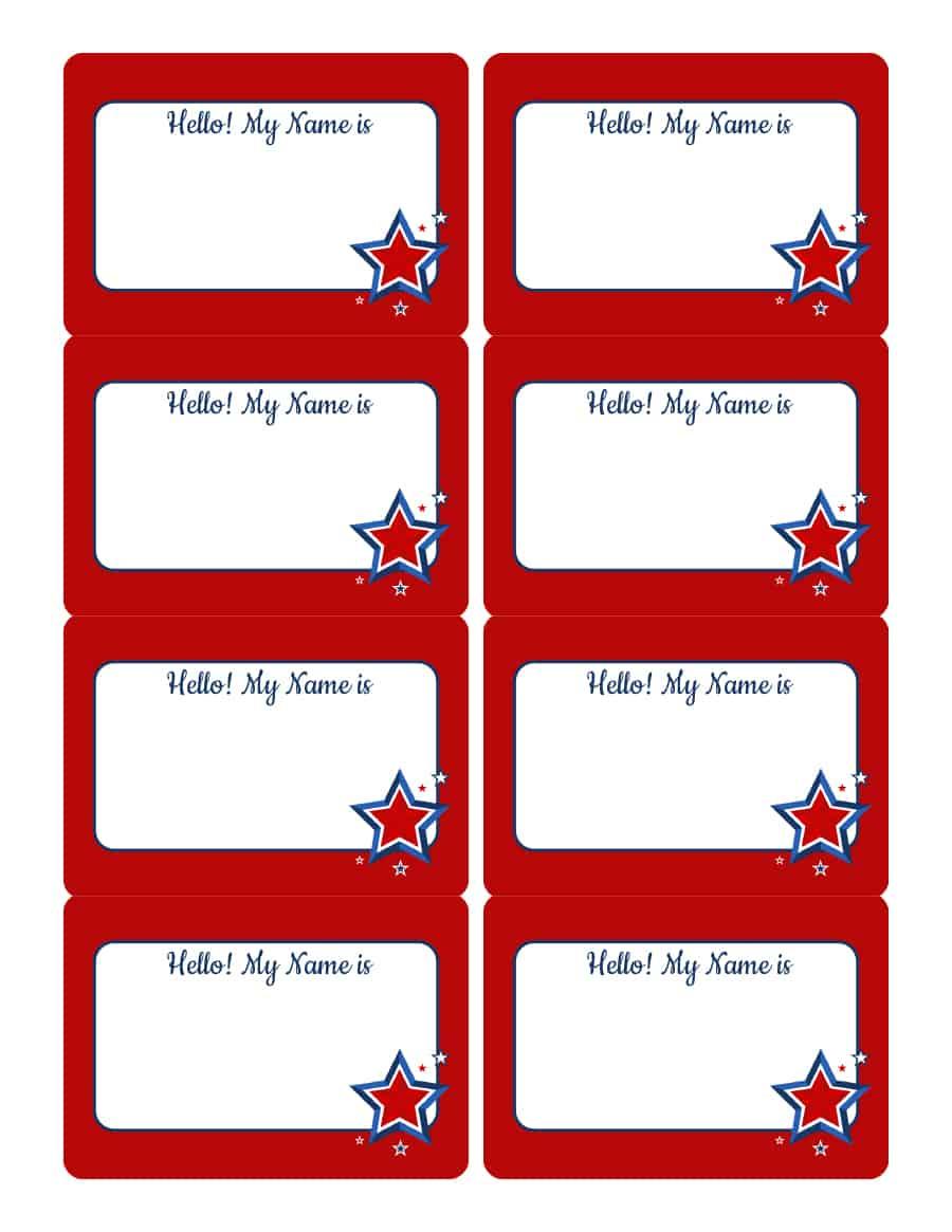 47 Free Name Tag + Badge Templates - Template Lab - Name Tag Template Free Printable