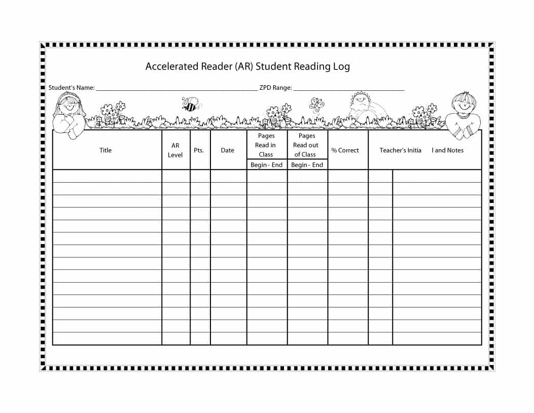 47 Printable Reading Log Templates For Kids, Middle School & Adults - Free Printable Reading Log