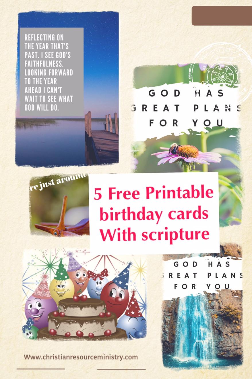 5 Free Printable Christian Birthday Cards - Free Printable Greeting Cards No Sign Up