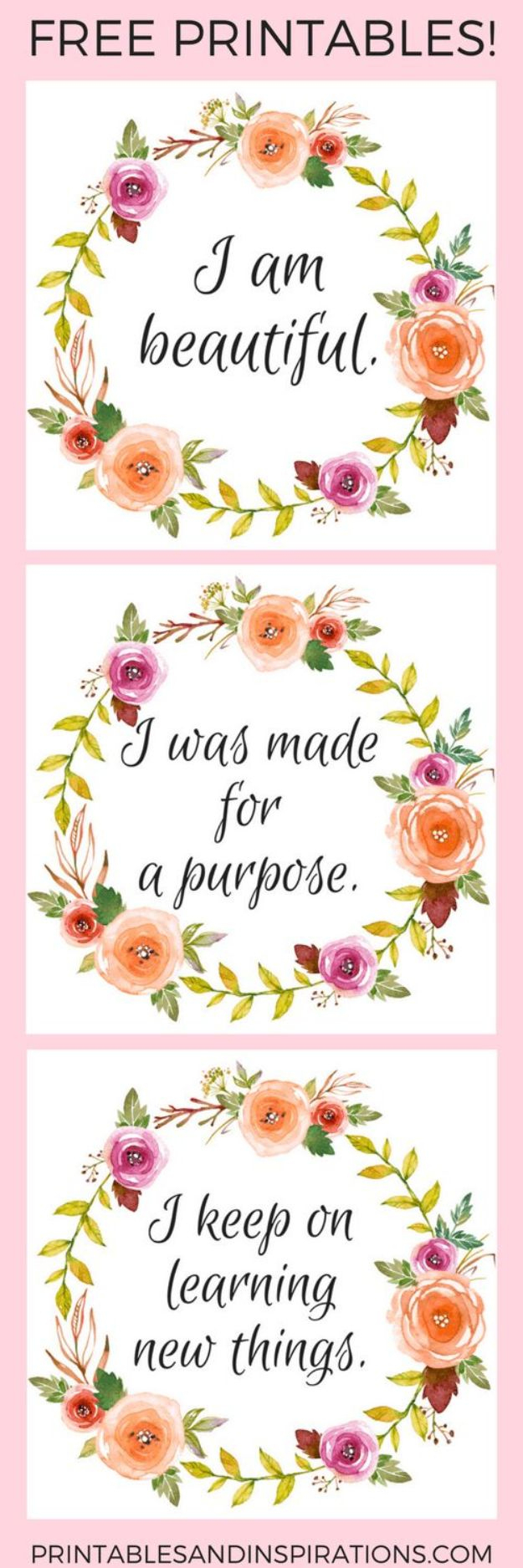 50 Best Free Printables For Craft Projects - Free Printable Quotes Templates