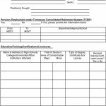 50 Free Employment / Job Application Form Templates [Printable   Application For Employment Form Free Printable