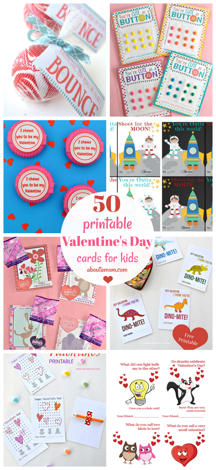 50 Free Printable Valentine's Day Cards - Free Printable Childrens Valentines Day Cards