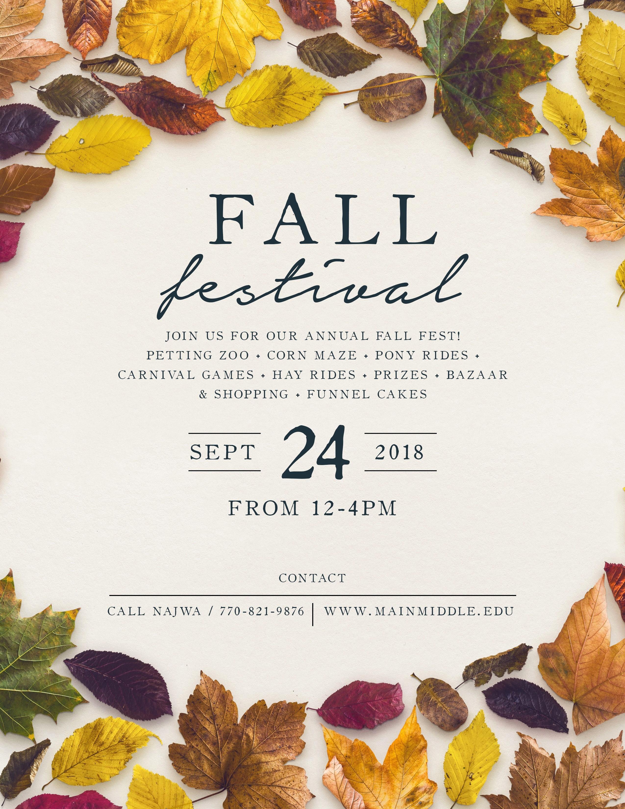 50 Luxury Free Fall Flyer Templates   Speak2Net - Free Printable Fall Flyer Templates
