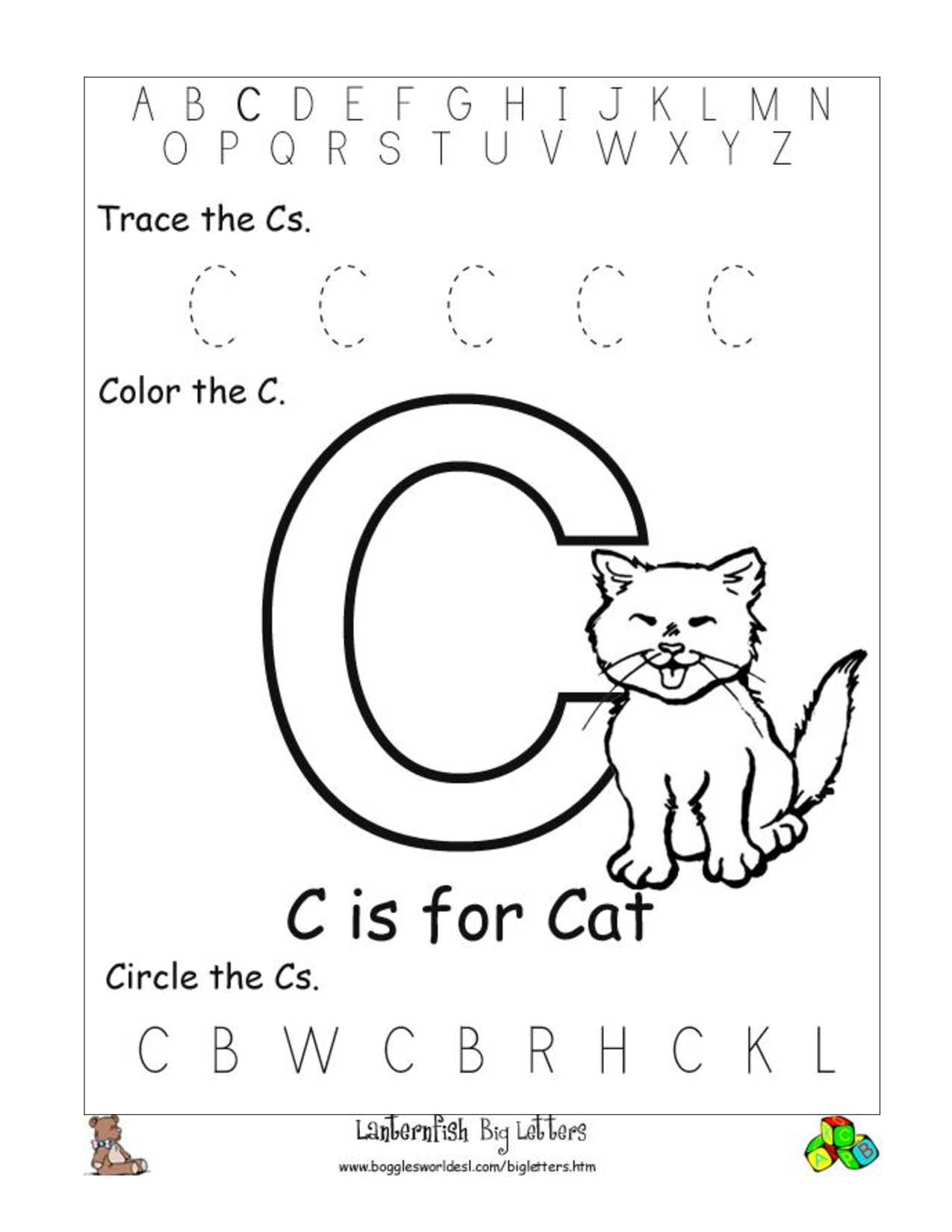 6 Best Images Of Free Printable Preschool Worksheets Letter C | Day - Free Printable Letter C Worksheets