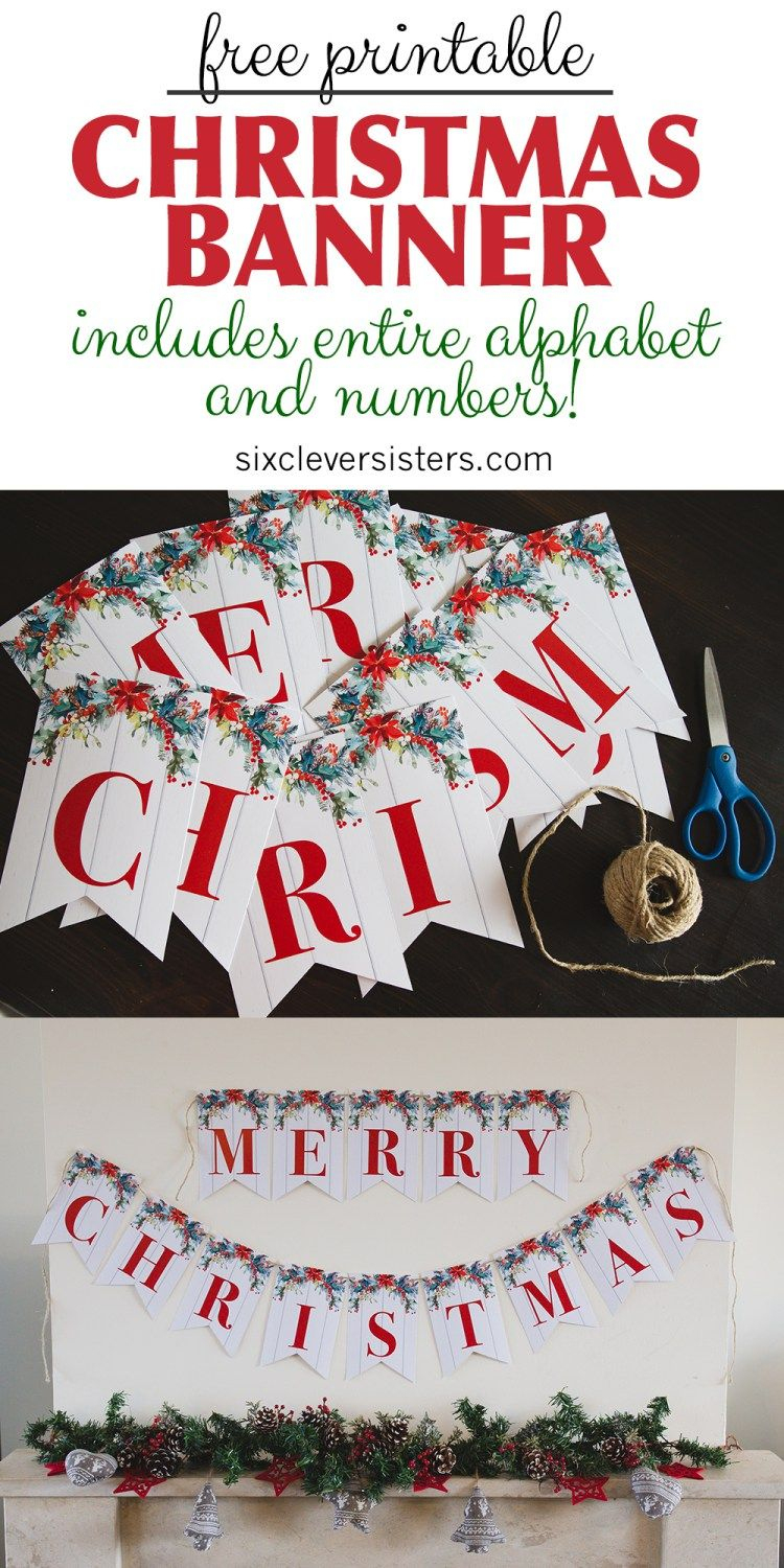 6 Free Printable Christmas Signs | Christmas | Pinterest | Merry - Free Printable Christmas Party Signs