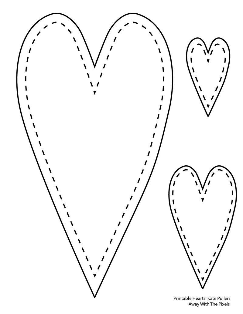 6 Free Printable Heart Templates | Printables | Pinterest | Heart - Free Printable Heart Templates