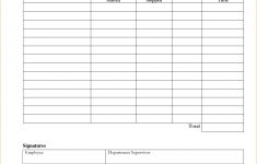 Free Printable Blank Time Sheets
