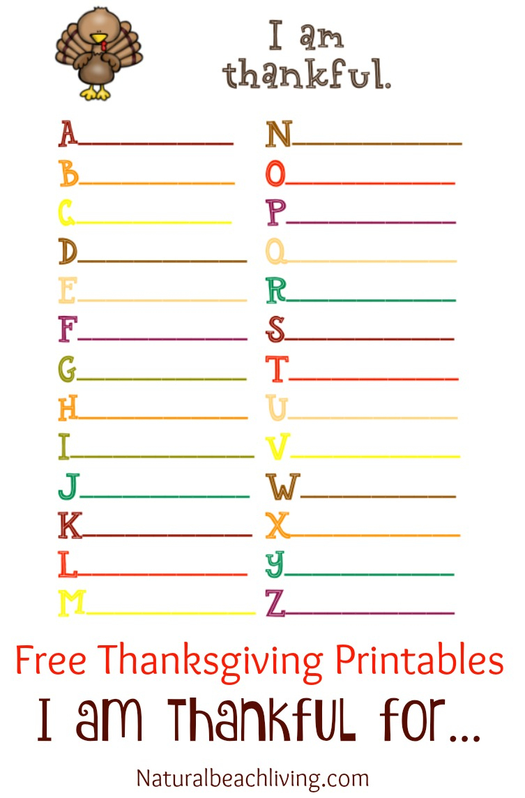 60+ Free Thanksgiving Printables For Kids - Natural Beach Living - Thanksgiving Games Printable Free
