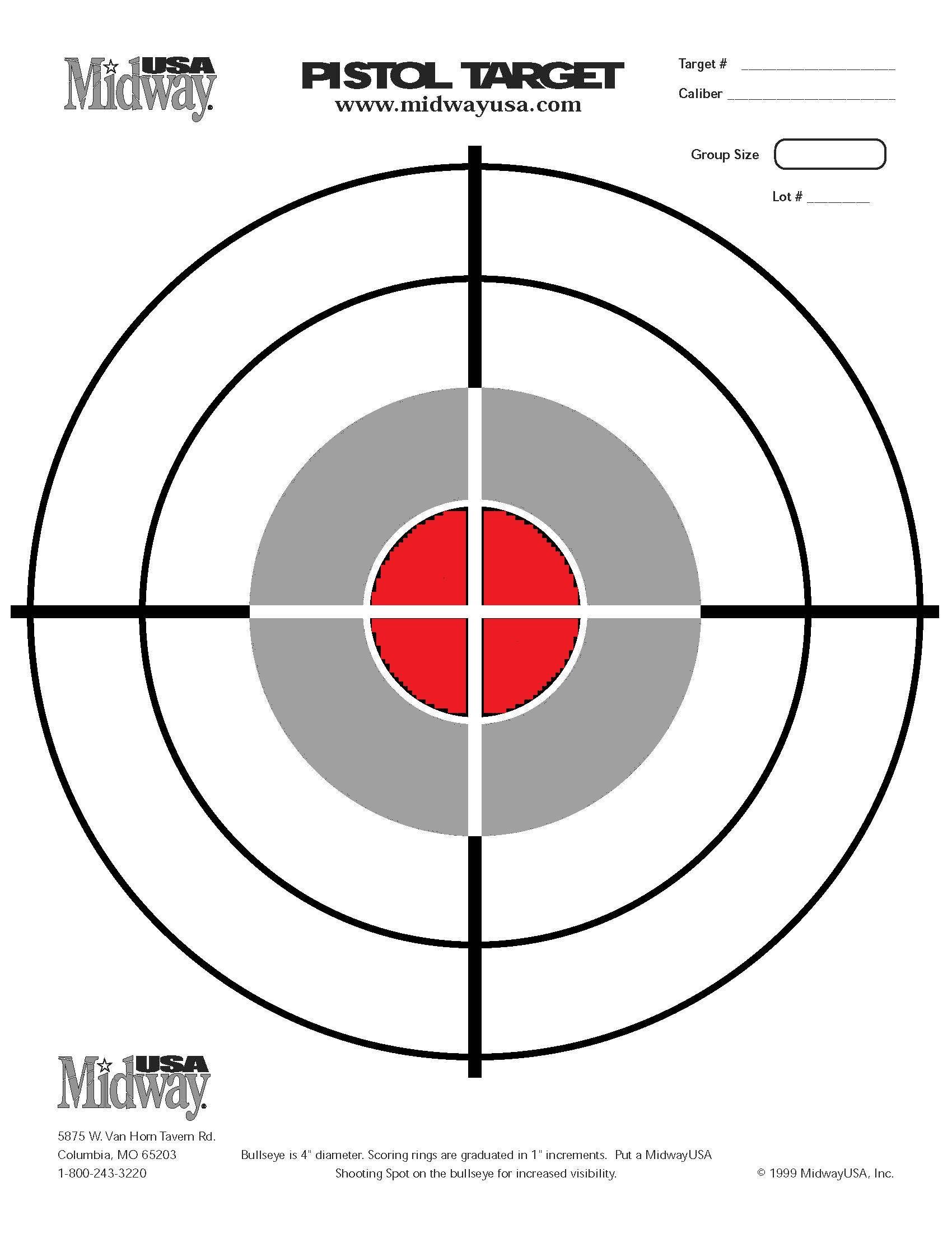 60 Fun Printable Targets | Kittybabylove - Free Printable Shooting Targets