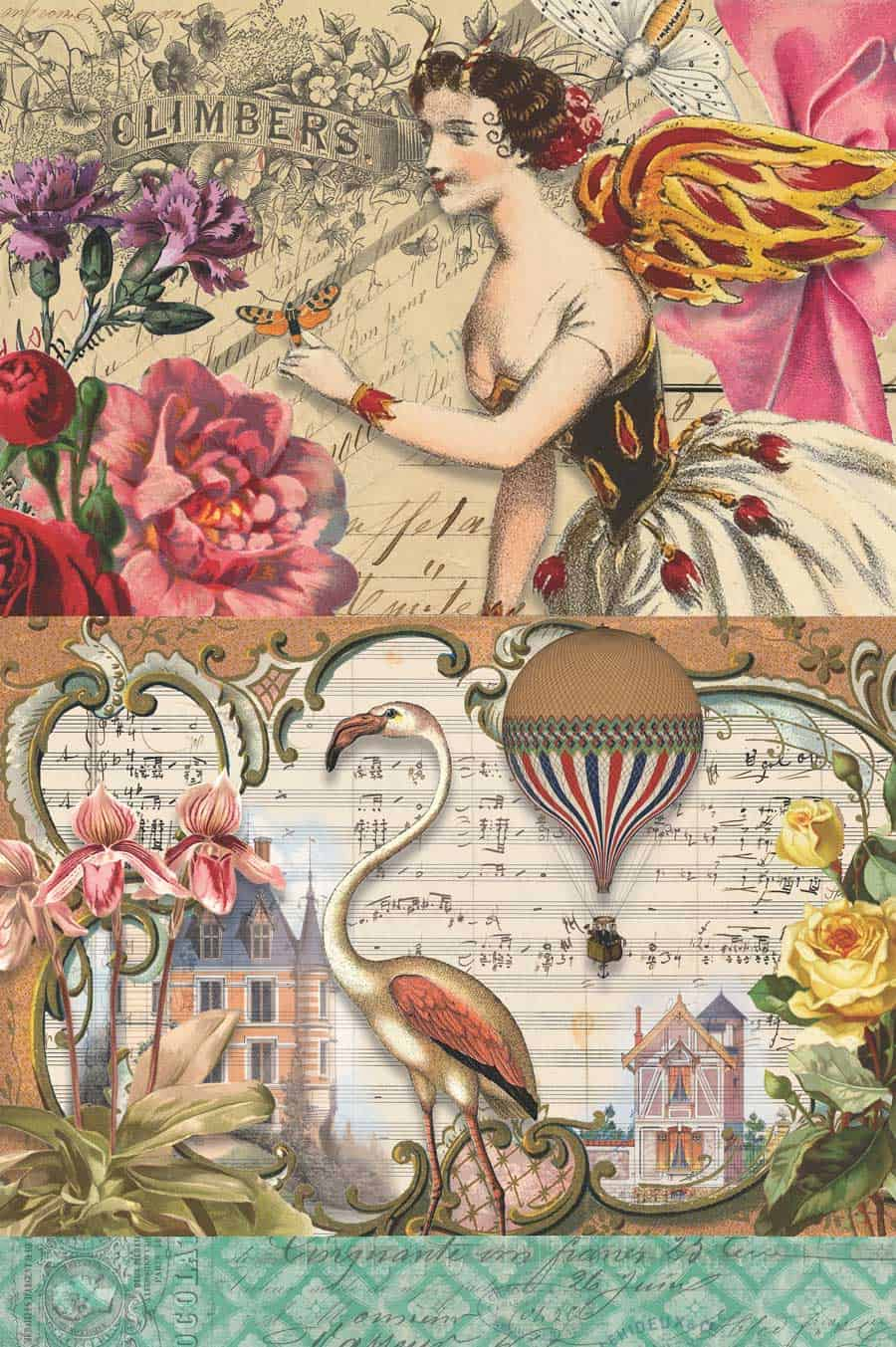 7 Free Creative Collage Sheet Printables For Decoupage Tissue Paper - Free Printable Decoupage Images