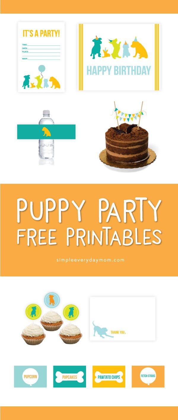 7 Free Puppy Party Printables That'll Make Your Child's Birthday - Free Printable Puppy Dog Birthday Invitations