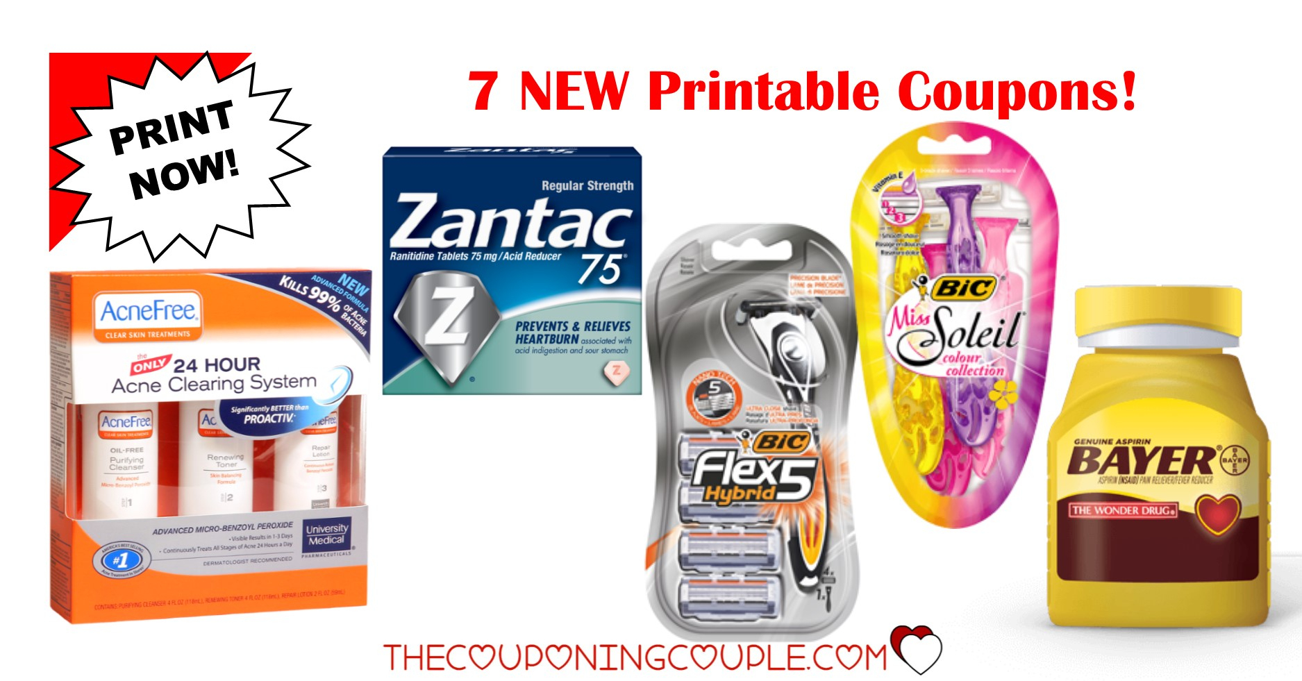 7 New Printable Coupons ~ $21 In Savings! Print Now! - Acne Free Coupons Printable