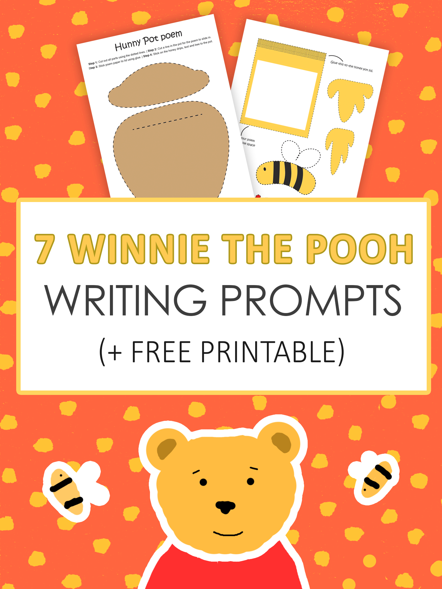 7 Winnie The Pooh Writing Prompts | Learning Activities | Winnie The - Free Printable Disney Stories