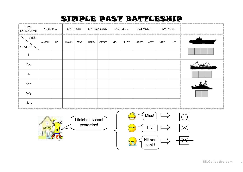 73 Free Esl Battleship Worksheets - Free Printable Battleship Game