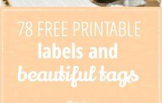 Free Printable Baking Labels