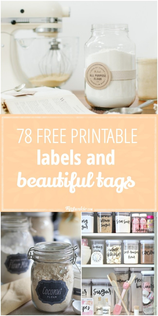 78 Free Printable Labels And Beautiful Tags – Tip Junkie - Free Printable Price Labels