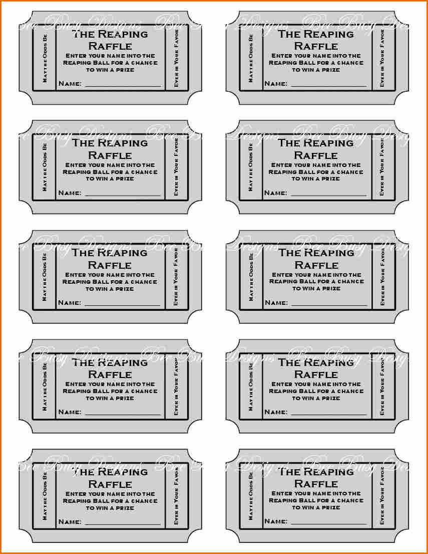 8+ Free Printable Raffle Ticket Template | Job Resumes Word - Free Printable Bridal Shower Raffle Tickets