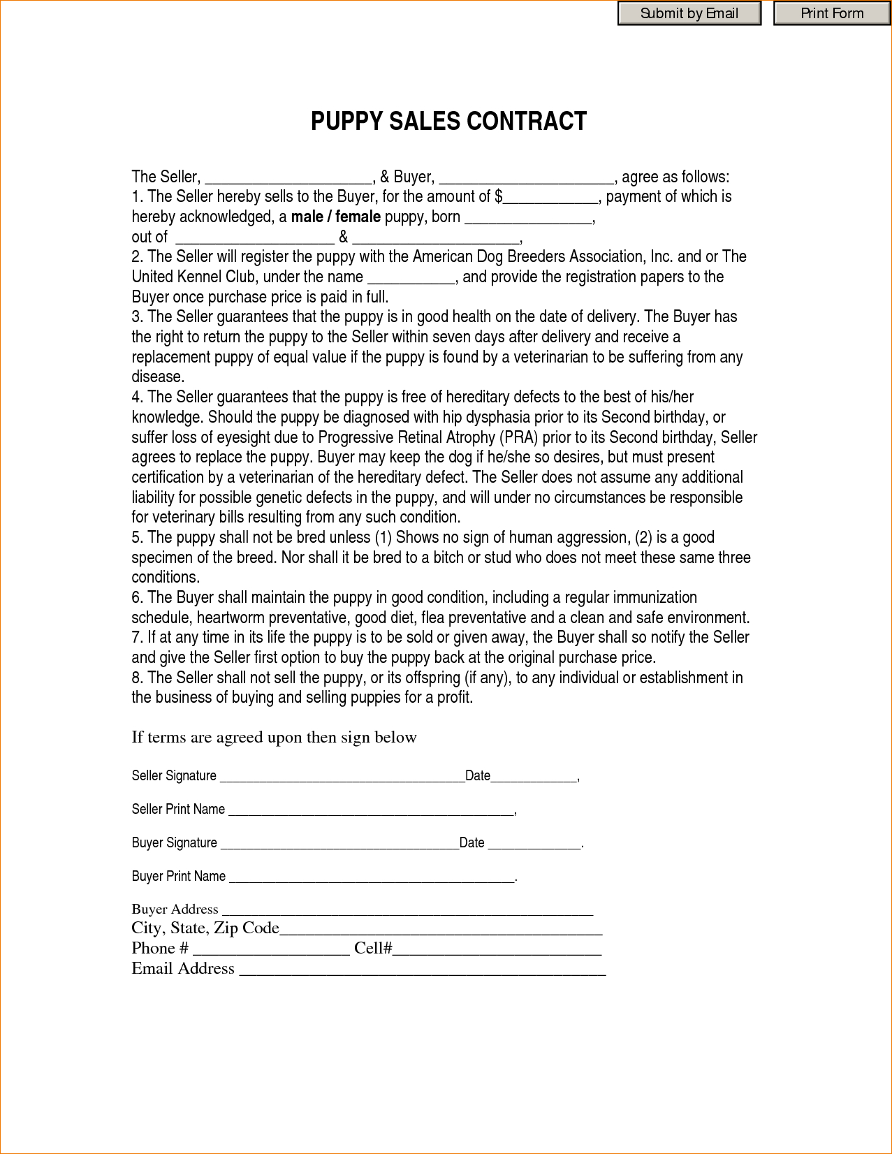 8+ Printable Contracts | Timeline Template - Free Printable Contracts