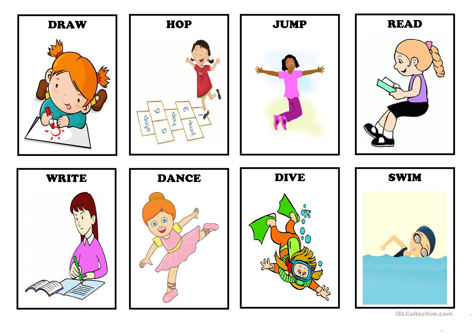 80 Free Esl Verb Cards Worksheets - Free Printable Cause And Effect Picture Cards